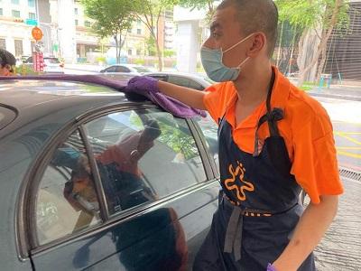 防疫期間,陽光加油站持續為身障員工加油打氣